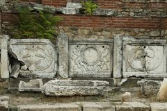 马其顿, Bitola, Heraclea Lyncestis废墟  免版税库存图片