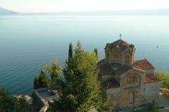 马其顿, Ohrid/Ochrid,圣徒Jovan Kaneo寺庙 库存照片