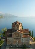 马其顿, Ohrid/Ochrid,圣徒Jovan Kaneo寺庙 免版税库存照片