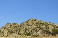 马其顿, Prilep地区, Treskavec,岩层,石Buil 免版税库存图片