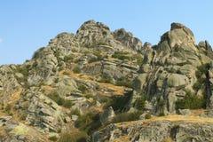 马其顿, Prilep地区, Treskavec,岩层Zlatov v 免版税图库摄影