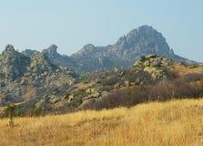 马其顿, Prilep地区, Treskavec, Zlatov Vrv山 免版税库存照片