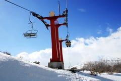 马其顿mavrovo手段滑雪 图库摄影