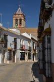 马切纳,安大路西亚,西班牙 中央街道 库存照片