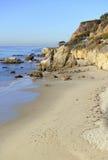马利布,加利福尼亚,美国坚固性海岸线  免版税图库摄影