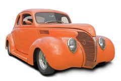 马力强大的橙色汽车 库存图片