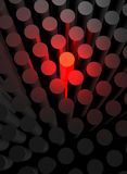 马力强大的金属红色汽车 免版税图库摄影