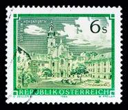 马勒Hohenfurth修道院、修道院和修道院serie,大约1984年 免版税库存图片