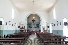 马卡帕,巴西- 2015年7月31日:圣若泽圣若瑟教会内部在马卡帕,Braz 图库摄影