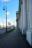 马卡罗夫堤防在圣彼德堡,俄罗斯 库存照片