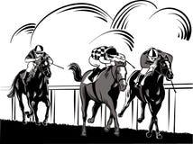 马和车手 图库摄影