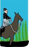 马和骑师 免版税库存照片