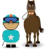 马和骑师 向量例证