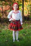 马哈拉施特拉邦的罗马尼亚传统服装伙计 免版税库存照片