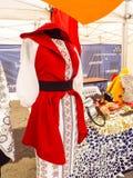 马哈拉施特拉邦的罗马尼亚传统服装伙计 免版税库存图片
