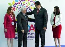 马哈茂德・阿巴斯,巴勒斯坦的总统和委内瑞拉总统尼古拉斯・马杜罗 免版税库存照片