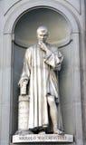 马基雅弗利雕塑 免版税库存图片