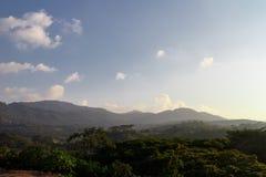 从从马塔加尔帕,尼加拉瓜的一座山环境美化 库存照片