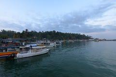 马塔勒捕鱼港口在斯里兰卡 库存照片