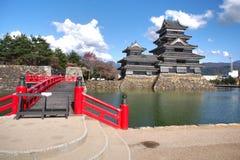 马塔莫罗斯城堡在长野县,日本 免版税库存照片
