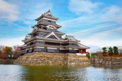 马塔莫罗斯城堡在马塔莫罗斯市,长野,日本 图库摄影