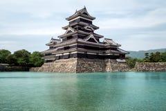 马塔莫罗斯城堡在马塔莫罗斯市,长野,日本 免版税库存图片