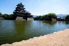 马塔莫罗斯城堡视图是很美好在日本 免版税图库摄影