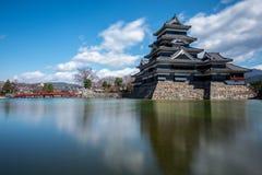 马塔莫罗斯城堡,长野,日本 库存照片