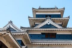 马塔莫罗斯城堡,长野,日本 免版税库存图片