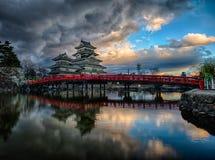 马塔莫罗斯城堡,长野,日本 免版税图库摄影