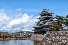 马塔莫罗斯城堡,长野,日本 免版税库存照片