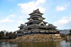 马塔莫罗斯城堡(日本) 免版税库存照片