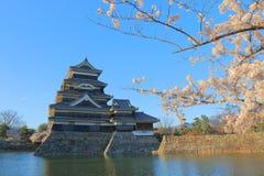 马塔莫罗斯日本城堡长野日本 免版税库存图片