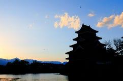 马塔莫罗斯日本城堡长野日本 图库摄影