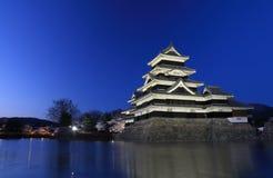 马塔莫罗斯日本城堡长野日本 免版税库存照片