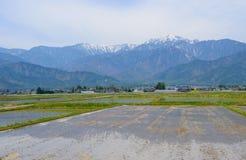 马塔莫罗斯盆地,长野,日本风景  免版税库存图片