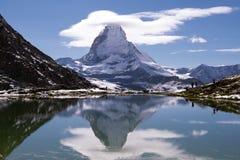 马塔角山,策马特,瑞士 库存照片