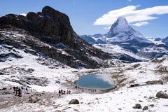 马塔角山,策马特,瑞士 库存图片