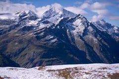 马塔角山,策马特,瑞士 免版税库存照片