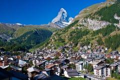 马塔角瑞士zermatt 库存照片