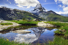 马塔角,瑞士全景  库存照片