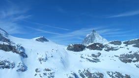 马塔角:瑞士阿尔卑斯的珠宝 库存图片