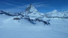 马塔角:瑞士阿尔卑斯的珠宝 库存照片