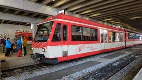 马塔角Gothard铁路,瑞士 免版税库存图片