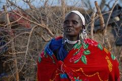 马塞人妇女 免版税库存图片