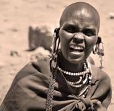 马塞人妇女 库存图片