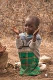 马塞人孩子在学校 图库摄影