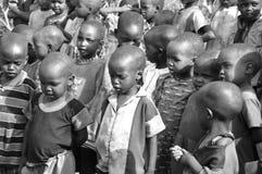 从马塞人部落的非洲孩子 图库摄影