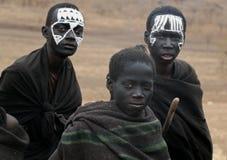 马塞人年轻人战士 免版税库存照片