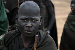 马塞人年轻人战士 免版税图库摄影